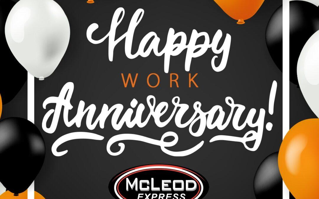 Happy October Work Anniversaries!!